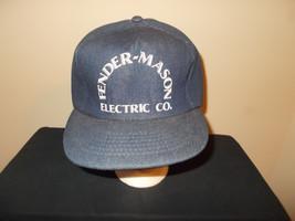 VTG-1980s Fender Mason Electric Heavy Denim Jean style snapback hat sku20 - $27.83