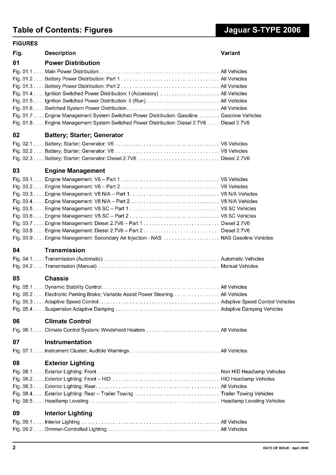 Car Manuals & Literature Service & Repair Manuals JAGUAR S-TYPE ...