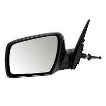 Fits 12-13 Soul Left Driver Mirror Manual Remote Non-Painted Black - $69.95