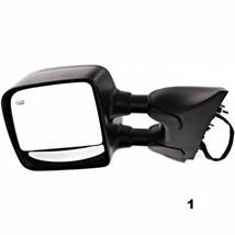 Fits 04-15 Titan Left Driver Telescopic Tow Mirror Textured Power Heat Dual Arm - $128.95