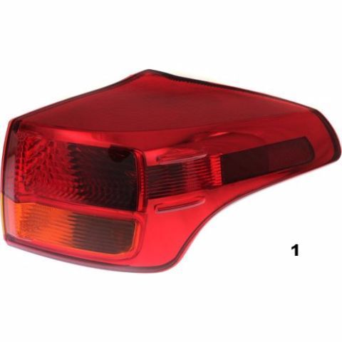 FITS 13-15 TOYOTA RAV4 JAPAN BUILT RIGHT PASS TAIL LAMP ASSM QUARTER MOUNTED image 1