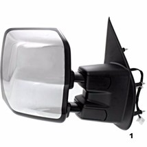 Fits 12 15 Nissan Nv Right Passenger Power Tow Mirror Chrome Foldaway With Heat - $279.95