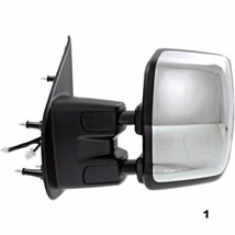 Fits 12-15 Nissan NV Left Driver Power Mirror With Heat Tow Chrome Manual Fold - $244.95