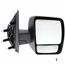 Fits 12-13 Nissan NV Right Passenger Manual Mirror Manual Folding Black Textured - $132.95