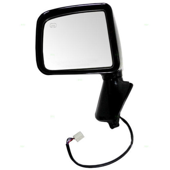 Side View Mirror Power Heated Smooth Black Driver Left LH for 10-13 Kia Soul