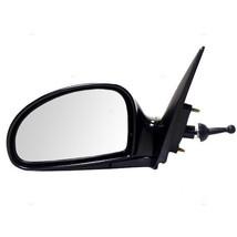 Fits 04-09 Kia Spectra 2.0L Left Driver Mirror Manual Remote Unpainted Black - $55.95