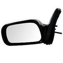 03-08 Toyota Matrix Left Drive Mirror Manual Remote Non-Painted Black - $41.95
