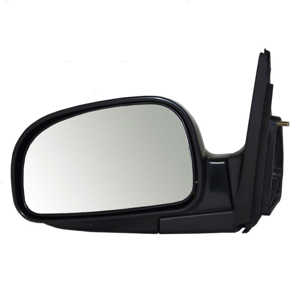 Fits 01-06 Santa Fe Left Driver Mirror Power Non-Painted Black With Heat - $57.95