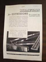 WW2 Apr 1941 Birmetals Limited Original Werbung - $1.25