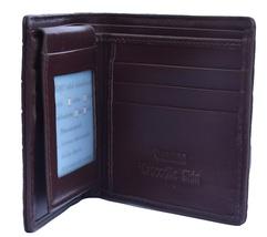 Handmade Hickory Brown Card & Cash Slots Premium Crocodile Leather Bifold Wallet - $176.39