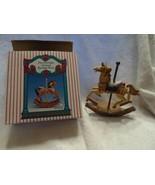 Fine Porcelain Christmas Carousel Rocking Horse - $7.50