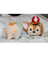 New Disney Tsum Tsum Dumbo Timothy Mouse 2 Pce Plush Clown Face Elephant - $14.84