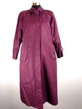 London Fog Womens Trench Coat 10 Petite Purple Removable Thinsulate Line... - $39.99