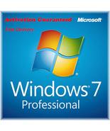 Microsoft Windows 7 Pro Professional Key with Download 32/64 Bit - $8.80