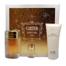 Baiser Vole By Cartier Gift Set With Eau De Parfum Spray 100 Ml NIB-FP100006 - $98.51