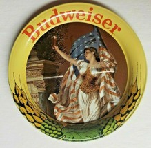 """Vintage Budweiser Beer Anheuser Busch Lady Liberty Metal Coasters  3.5""""  New H9 - $9.99"""