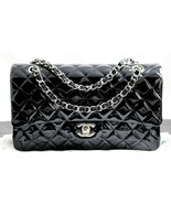 """2013 CHANEL 10"""" Classic Med 2.55 Black Quilted ... - $3,528.00"""