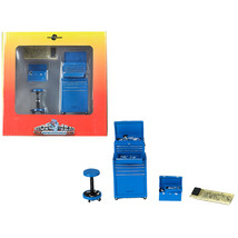 Tire Brigade 4 piece Tool Set Blue 1/18 by Motorhead Miniatures MH190 - $35.82