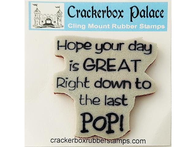 Crackerbox Palace Sentiment &Popped Corn Rubber Cling Stamps, Set of 2
