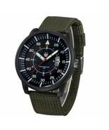 Luxury Mens watches Canvas band Quartz Army Watch Black Dial Date Reloj ... - $16.18
