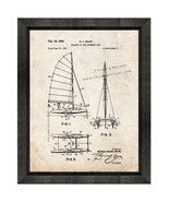 Sailboat Of The Catamaran Type Patent Print Old Look with Beveled Wood Frame - $24.95 - $109.95