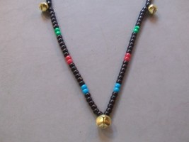 BLACKJACK ~ HORSE RHYTHM BEADS ~ Black with MultiColors ~ Size 54 Inches - $17.00