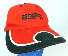 ESPN Red Baseball Cap Hat K-Products Adjustable Strapback Box Ship - $11.99
