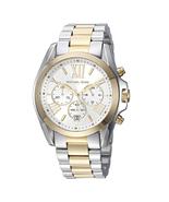 New Michael Kors Bradshaw Silver Gold Chronograph MK5627 Women's Watch - $128.65