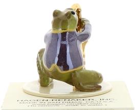 Hagen-Renaker Miniature Ceramic Frog Figurine Toadally Brass Band Saxophone image 2