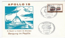APOLLO 15 SPLASHDOWN GERMAN CANCELLATION 8/7/1971 GERMAN SPACE COVER - $1.98
