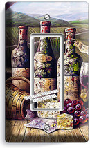 Vintage Winery Wine Cellar Bottles Single Gfci Light Switch Plate Kitchen Decor - $8.99
