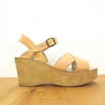 38 / 7.5 US - Kork Ease Anthropologie Nude Leather Platform Sandals 1122CT - $35.00