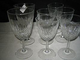 Cristal D'Arques Diamant Claret WIne Glasses Water Glasses 7-pc Lot Excellent - $17.99