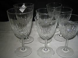 Cristal D'Arques Diamant Claret WIne Glasses Water Glasses 7-pc Lot Excellent - $17.99