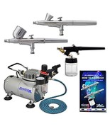 Master Airbrush Multi-purpose Professional Airbrushing System with 3 Air... - $123.62