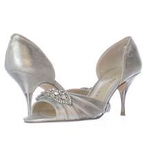 Ivanka Trump Nanci Peep Toe D'Orsay Heels, Silver, 5.5 US Display - $35.51