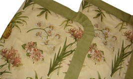 Waverly 2 Boca Botanical Standard Pillow Sham Tropical Pineapples Orchids Floral - $49.47