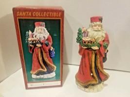 Santa Claus Figure Windsor Collection Eastern European NIB Xmas Baby bun... - $23.27