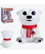 Coca-Cola Christmas Baby Polar Bear Sitting Vinyl POP Figure Toy #58 FUN... - $9.74