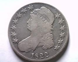 1822 BUST HALF DOLLAR O.113 R-3 FINE / VERY FINE F/VF NICE ORIGINAL COIN - $135.00