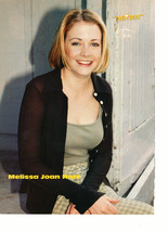 Melissa Joan Hart teen magazine pinup clipping up against a wall skirt Bop