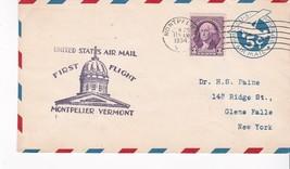 FIRST FLIGHT MONTPELIER, VERMONT JUNE 25, 1934 - $1.98