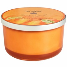 NWT PIER 1   GINGER PEACH  3  WICK CANDLE - $34.64