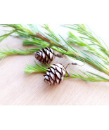 Larch cone earrings Natural jewelry Gift for her Woodland earrings Eco c... - $13.00