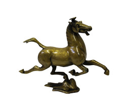 Chinese Oriental Fine Bronze Metal Home Decor Horse Display cs3807 - $295.00