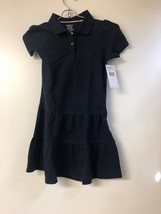 French Toast Little Girls Ruffle Pique Polo Dress, Navy, Small, 6 - $10.69