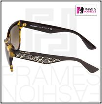 MIU MIU PAVE EVOLUTION MU 06R Square Brown Havana Silver Rock Sunglasses MU06RS image 4