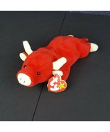 Ty Beanie Baby Red Bull Snort Born May 15 1995 3rd Generation Style 4002 - $10.39