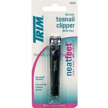 Trim Toe Nail Clipper Neat Feet Deluze Nail Trimmer NEW with Enlarged Op... - $4.01