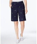Charter Club Embroidered Bermuda Shorts - Endless Summer - Size 4 - $19.79